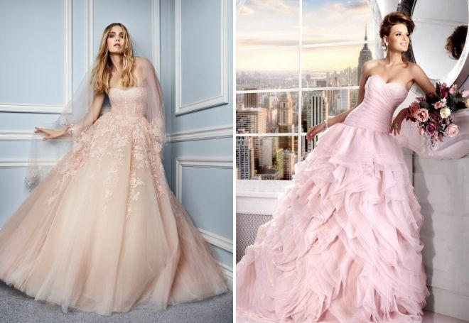 красивые цвета свадебных платьев