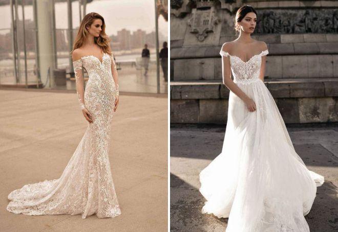 красивые длинные свадебные платья 2018