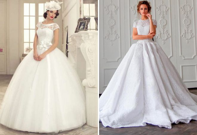 красивые пышные свадебные платья
