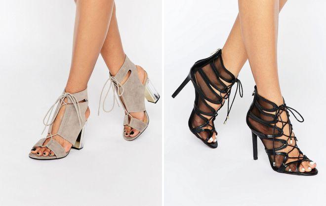 красивые туфли на шнурках