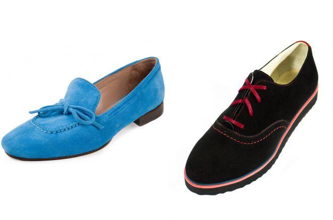 красивые замшевые туфли