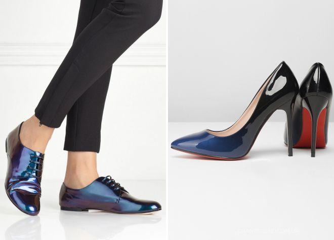 красивые лаковые туфли