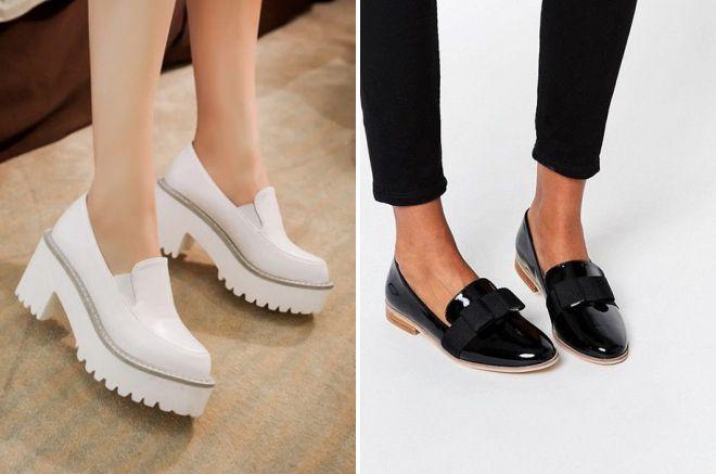 красивые демисезонные туфли