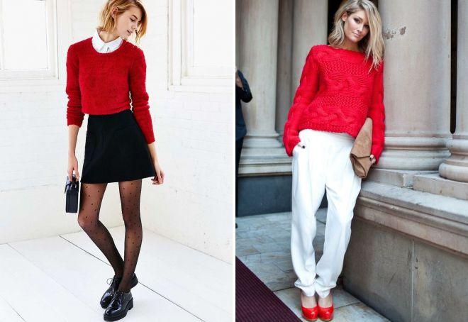 красный свитер луки