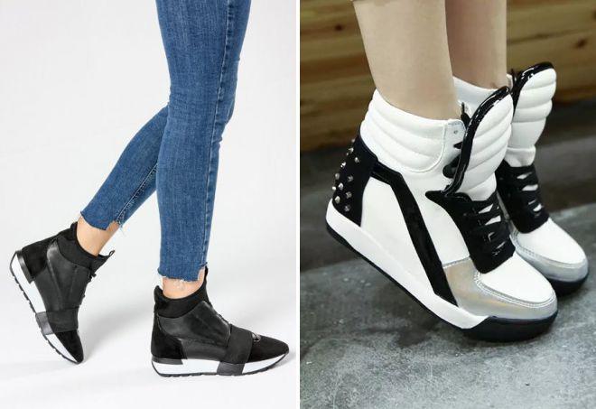 высокие кроссовки 2018
