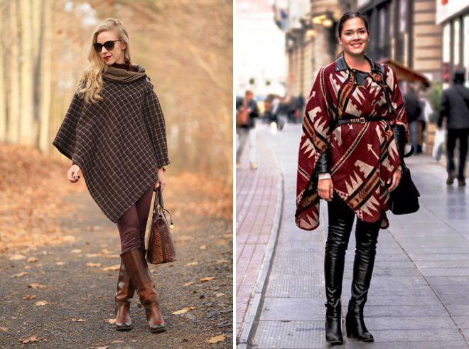 quoi porter avec un poncho en automne