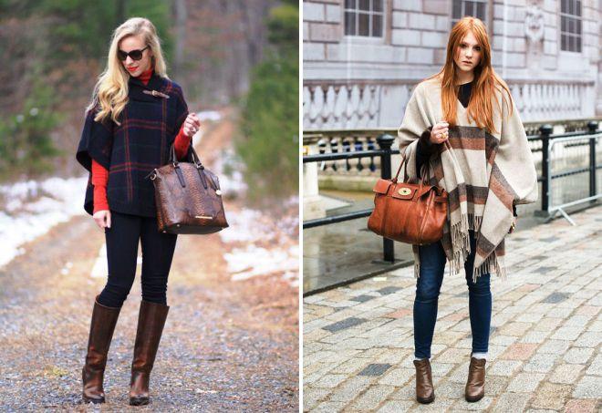 images à la mode avec un poncho