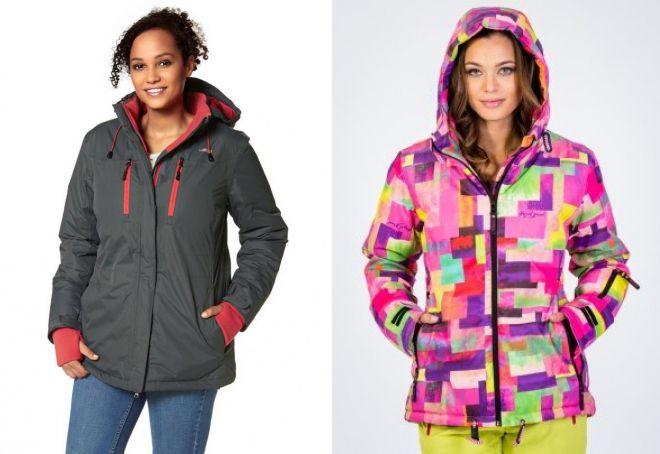женская короткая теплая куртка