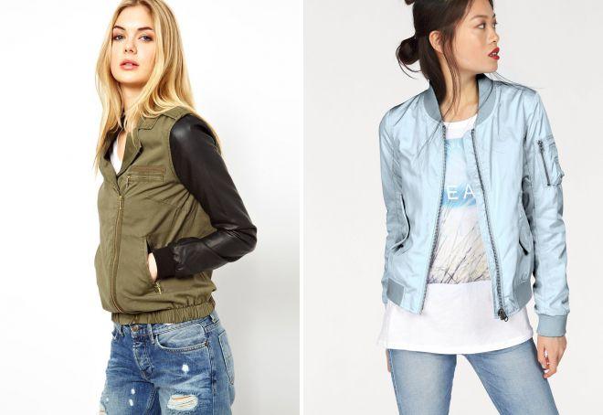 женские короткие куртки бомбер