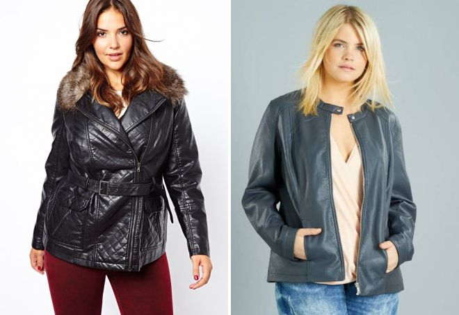 короткие куртки для полных женщин