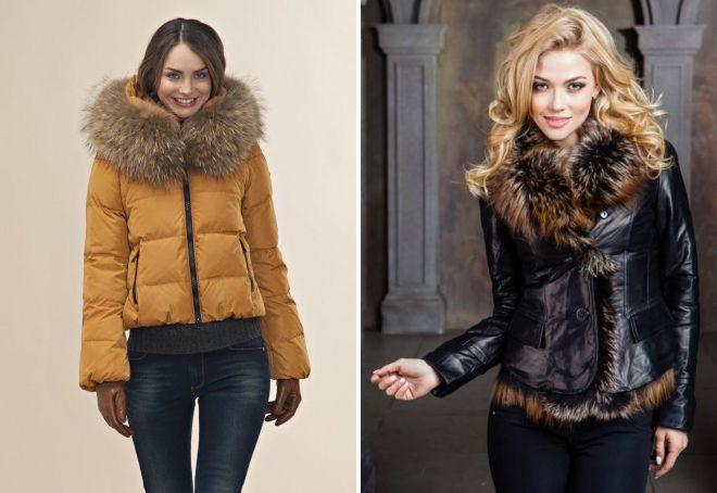 зимние женские короткие куртки