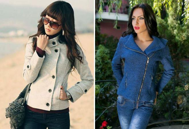 стильная короткая женская куртка