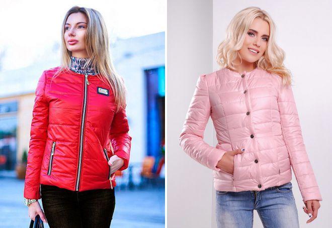 женская короткая утепленная куртка