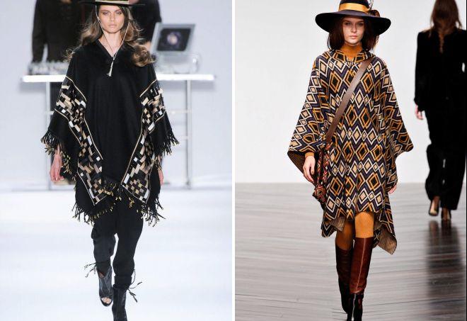 пончо 2018 года модные тенденции