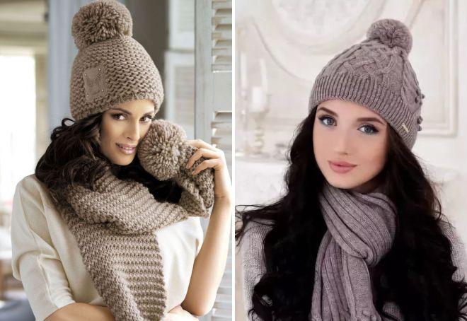 Самые модные женские вязаные шапки 2017-2018 – с ушками, помпоном, отворотом, крупной вязки