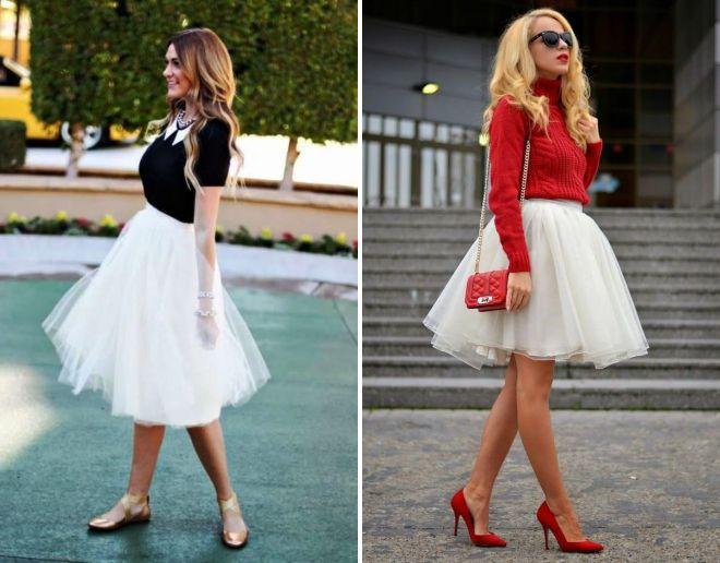 белая юбка пачка