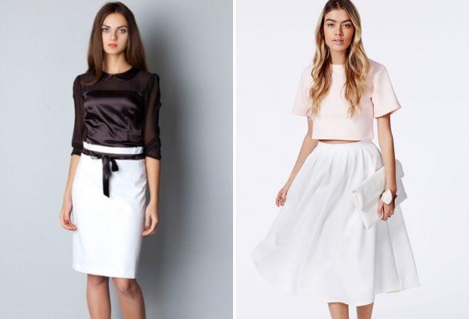белая юбка миди