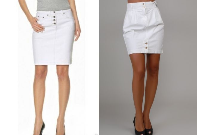 стильная белая юбка