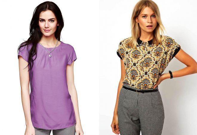 модные блузки с коротким рукавом