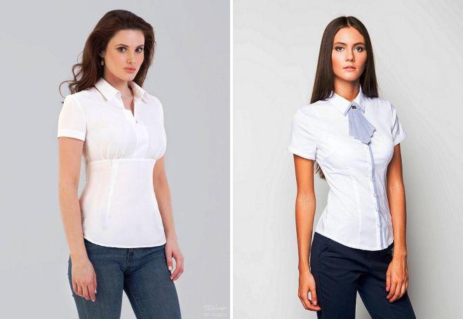 блузки с коротким рукавом 2017
