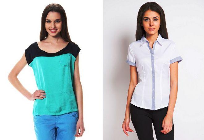 женские блузки с коротким рукавом
