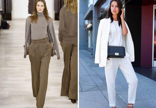 Модные женские классические брюки – черные 0ae0e3065a9d7