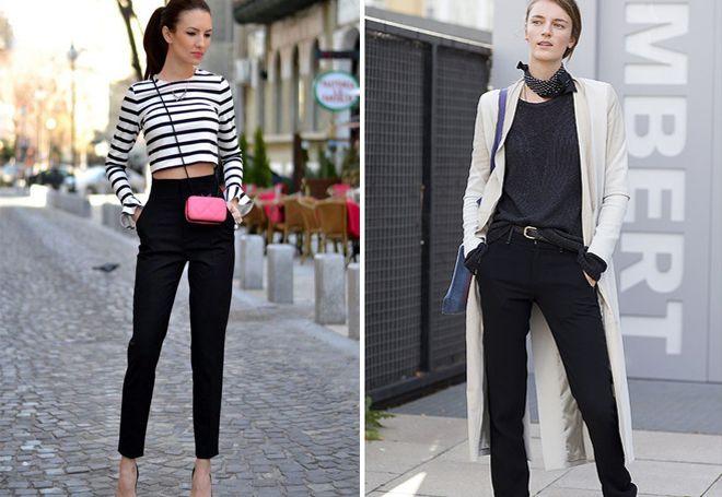 модные комбинации с классическими брюками