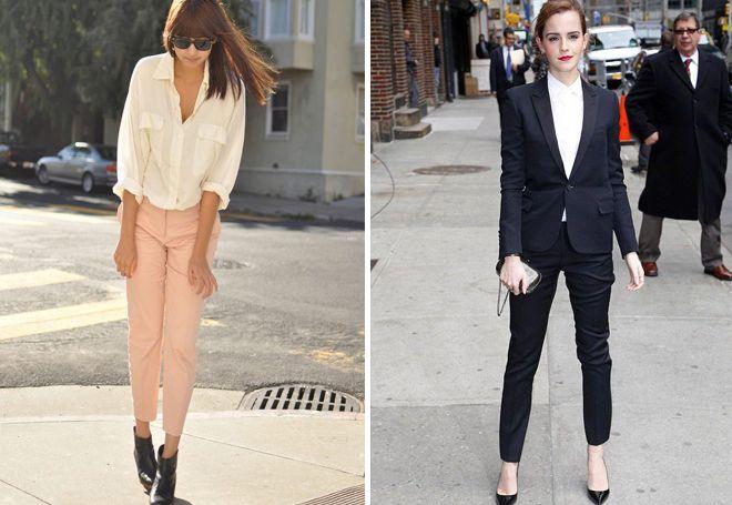 классические зауженные брюки