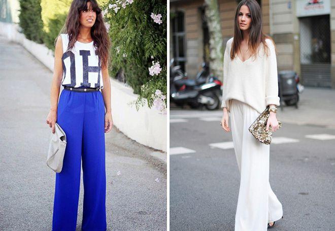 широкие классические брюки