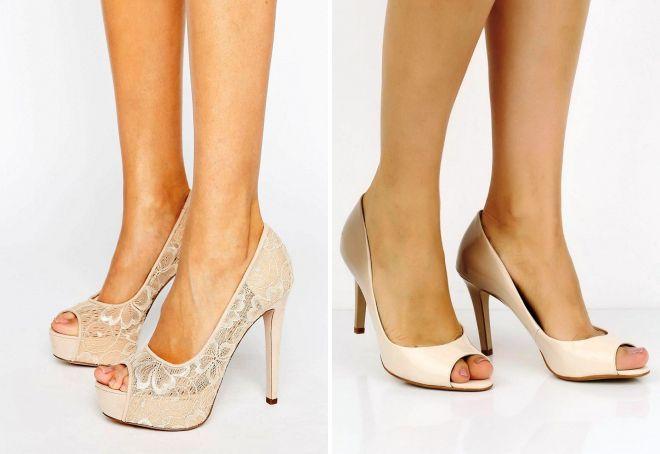 женские открытые туфли бежевые туфли с открытым носом 634671b1ed52d