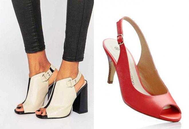 туфли с открытым носком и пяткой открытые туфли f58c7aaa40f5d