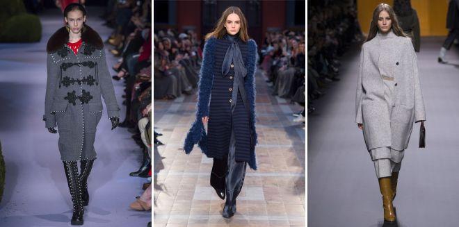 с чем носить красивое женское вязаное пальто длинное короткое