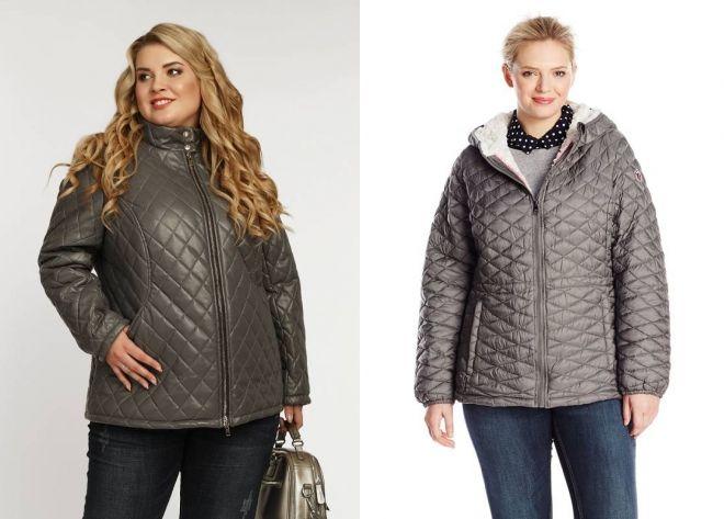 стеганые куртки для полных девушек
