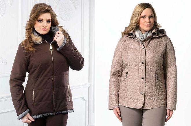 демисезонные куртки для полных женщин