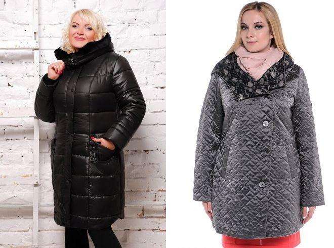 куртки пальто для полных женщин