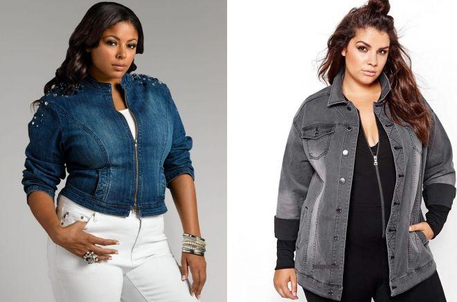 джинсовая куртка для полных женщин