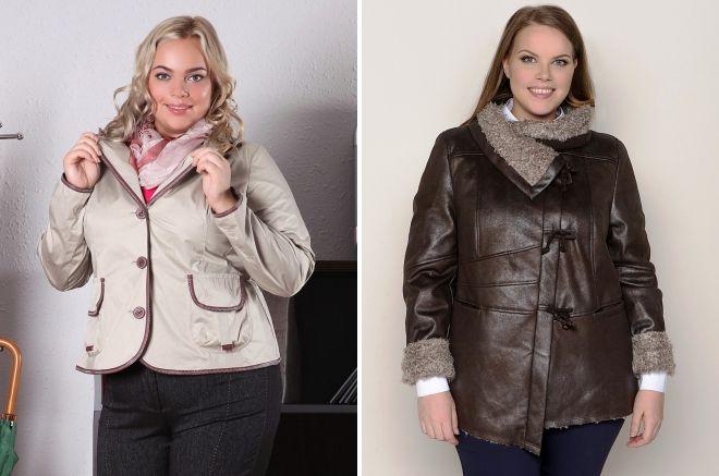 короткая куртка для полных женщин