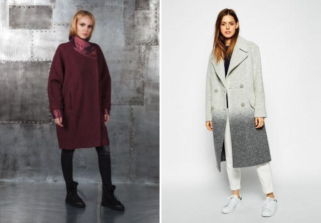 модели пальто оверсайз