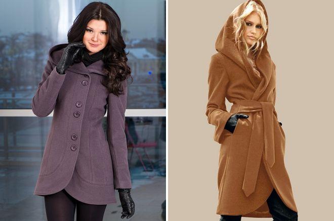 модели пальто с капюшоном