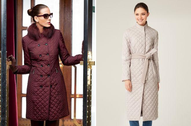 фасоны стеганых пальто