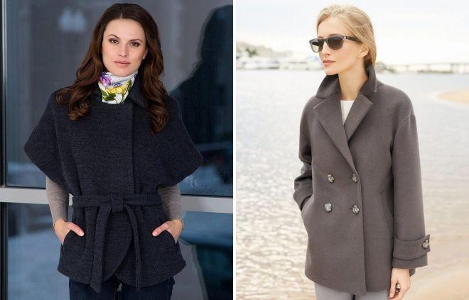 модели демисезонных пальто
