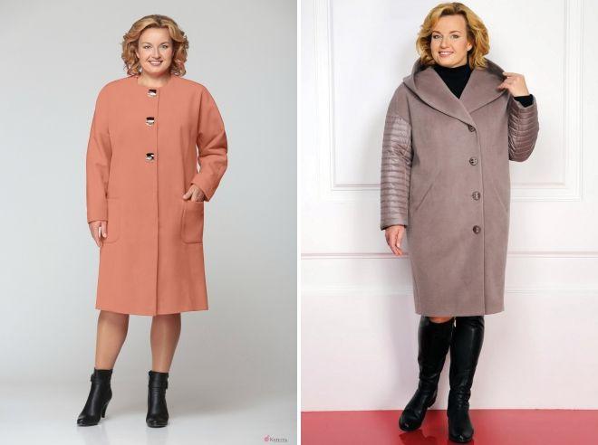 фасоны пальто для полных женщин