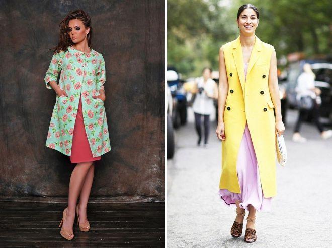 современные модели пальто