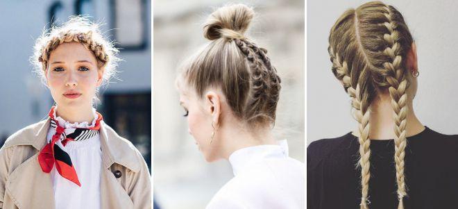 прически на 2018 с косами