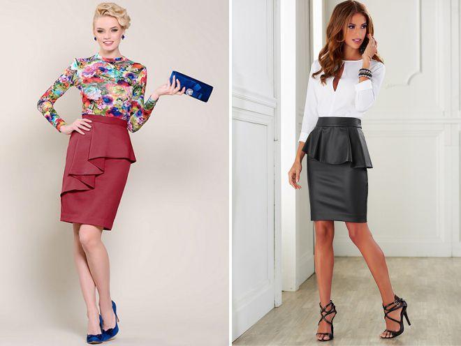 красивые блузки под юбку с баской
