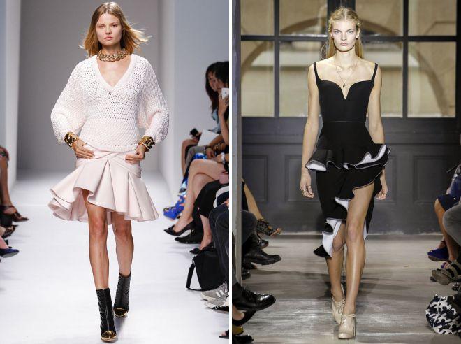 юбка с баской в моде
