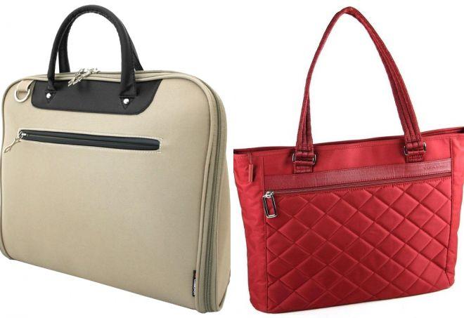 772d05ec0052 Стильная женская сумка для ноутбука – кожаная и текстильная, сумка ...
