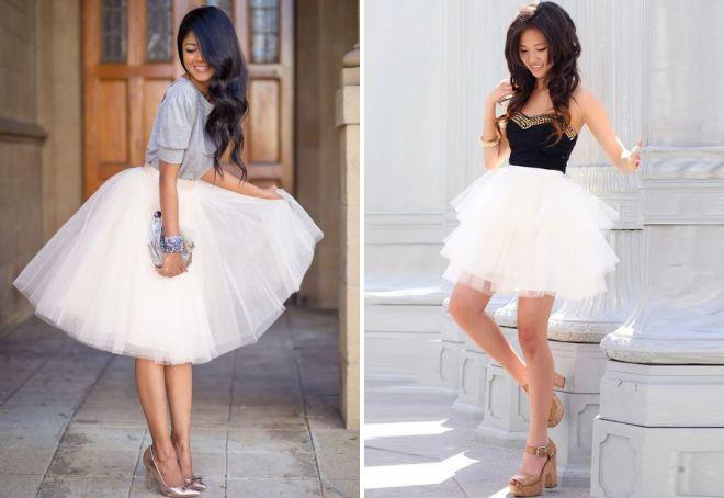 легкие пышные юбки