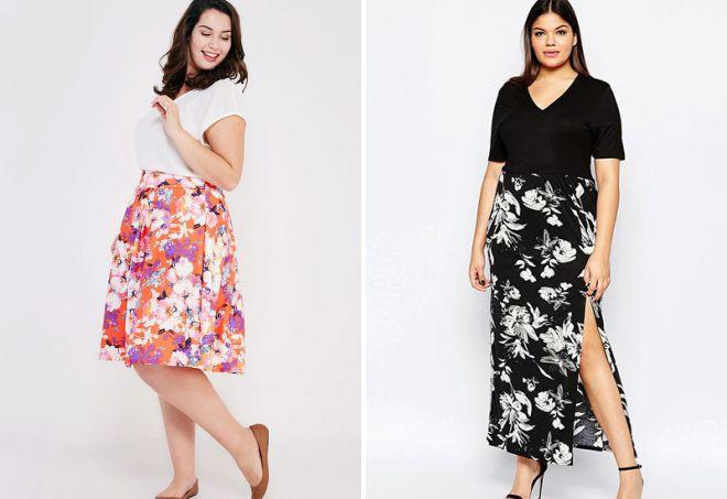 легкие летние юбки для полных
