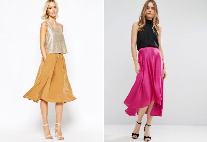 легкие летние юбки 2018